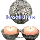 40915 - PAIR SILVER PLATED TRAVEL CANDLESTICKS