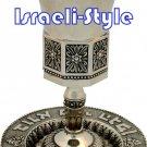40850 -  NICKEL OCTAGON KIDDUSH CUP / judaica gift from israel