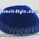 10216 - SET OF 10 PCS LiGHT BLUE VELVET KIPPAH DECORATIONS/ KIPA / YARMULKE /KIPPA