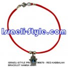 9079 -SET OF 12PCS  RED KABBALAH BRACELET HAMSA judaica GIFT from Israel.