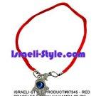 87345- SET OF 10PCS  RED BRACELET KABBALAH HAMSA 20 CM judaica GIFT from Israel.