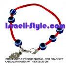 87346- SET OF 10PCS  RED BRACELET KABBALAH HAMSA WITH EYES 20 CM judaica GIFT from Israel.
