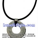 """9523 - STAINLESS STEEL PENDANT- """"SHMA ISRAEL"""",SILICON BAND, JUDAICA GIFT"""