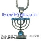 9604 - NECKLACE SMALL MENORAH , JUDAICA GIFT FROM ISRAEL