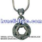 9788 - NECKLACE MAGEN DAVID BALL, JUDAICA GIFT FROM ISRAEL
