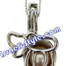 83483 - PEARL PENDANT CHAI, JUDAICA GIFT FROM ISRAEL