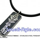 "86642 - STAINLESS STEEL PENDANT- ""KEY OF LIVELIHOOD"", JUDAICA GIFT FROM ISRAEL"