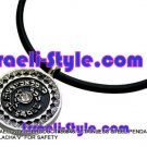 """86646 - STAINLESS STEEL PENDANT- """"KI MALACHA'V"""" FOR SAFETY, JUDAICA GIFT FROM ISRAEL"""