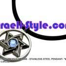 """86648 - STAINLESS STEEL PENDANT- """"MAGEN DAVID"""" IN CIRCLE, JUDAICA GIFT FROM ISRAEL"""