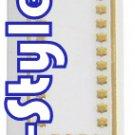20063 - LOT OF 50PCS PLASTIC GOLD MEZUZAH 12CM/MEZUZA