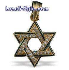 FREE SHIPPING!! 90017-GOLD FILLED MAGEN DAVID /star of david,hebrew jewelry judaica