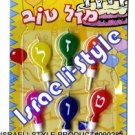 """9028 - CANDLES FOR CAKE, HEBREW """"MAZAL TOV"""" FREE SHIPPING"""