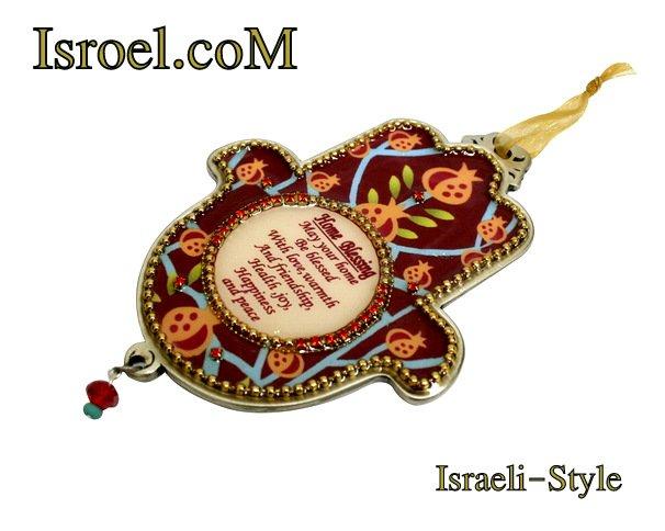73945 - PEWTER HAMSA, ENGLISH HOME BLESS 12CM- POMEGRANATE.GIFT FROM ISROEL.COM/ISRAELI-STYLE