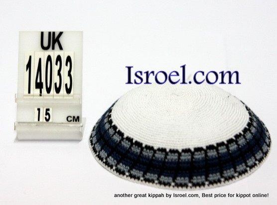 14033-CHEAP KIPPAHS,DISCOUNT KIPPOT ,KNITTED KIPA, yarmulka kippahs for sale, designs ,A KIPPAH
