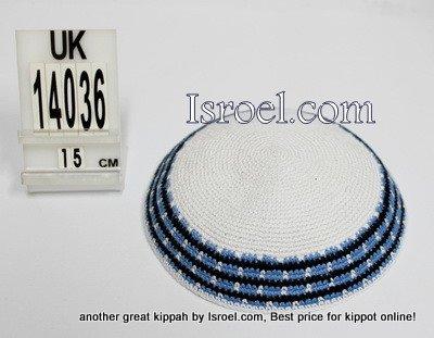 14036-CHEAP KIPPAHS,DISCOUNT KIPPOT ,KNITTED KIPA, yarmulka kippahs for sale, designs ,A KIPPAH