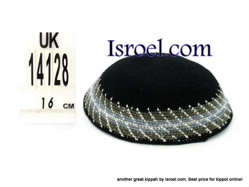 14128-CHEAP KIPA,DISCOUNT KIPPOT,KNITTED KIPA, yarmulke kippahs for sale,designs A KIPPAH designs