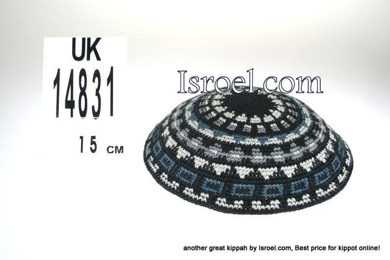 14831-CHEAP KIPA,DISCOUNT KIPPOT,KNITTED KIPA, yarmulke kippahs for sale,designs A KIPPAH designs