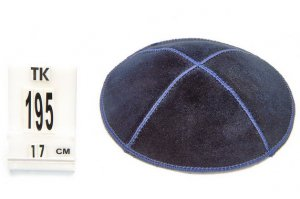 SPECIAL OFFER:20PCS SUEDE BLUE KIPPAH+ IMPRINT INSIDE FOR JEWISH WEDDING,/ KIPPAH / YARMULKE / KIPPA