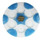 UK08087 - GLASS SEDER PLATE 36CM- HAND DECORATED