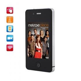 Hiphone4 Dual Card Quad Band WIFI JAVA Touch Screen Phone Black(2GB TF Card)(SZ09890036)