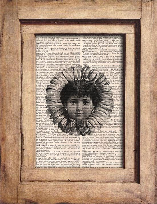 Vintage, Child, Flower, Dictionary Page Print 0077