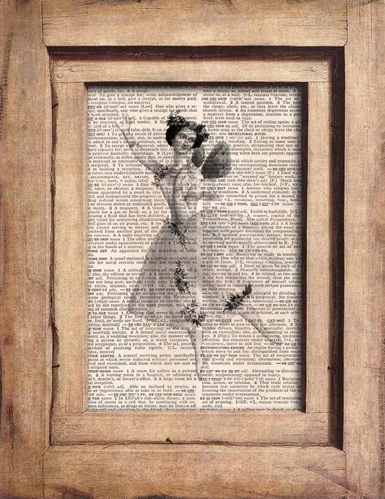 Vintage, Ballerina Dictionary Page Print 0069