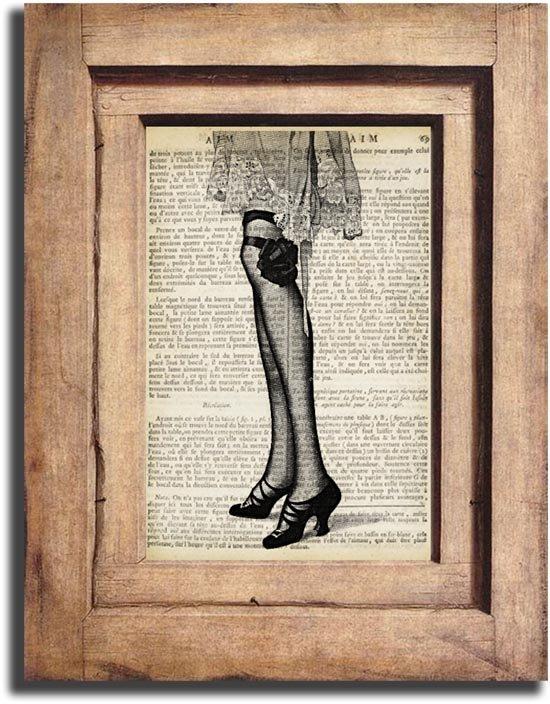 Vintage Woman Legs Page Print 0041