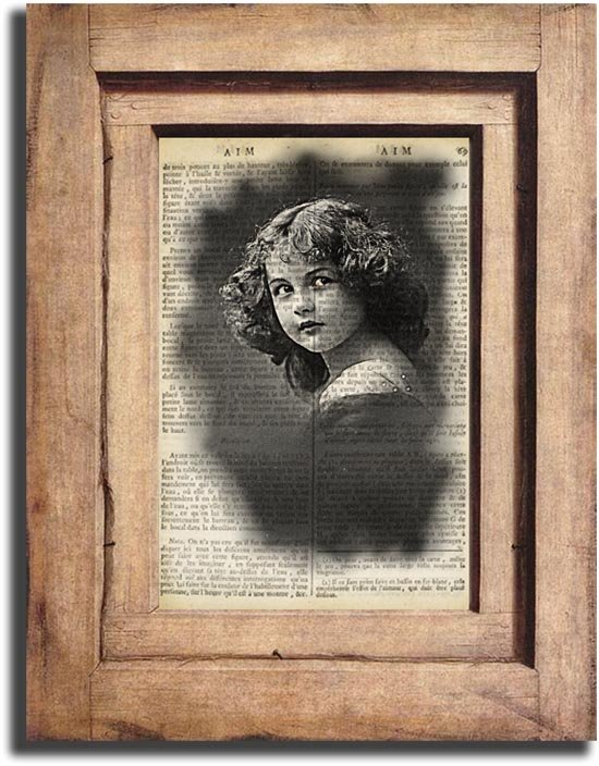 Art Print Vintage Vintage Girl Dictionary Page Print 0038