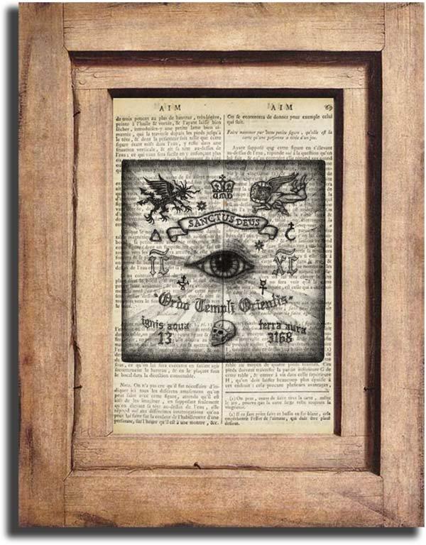Art Print, Vintage Illuminati Dictionary Page Print 0013