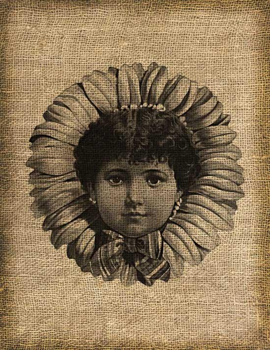 Vintage, Flower Child, Ephemera, Altered, Digital Image No.151