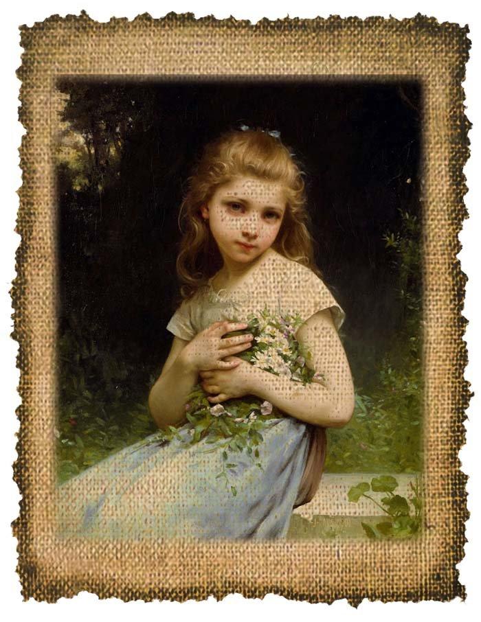 Vintage, My Dasies, Girl, Digital Image No. 281