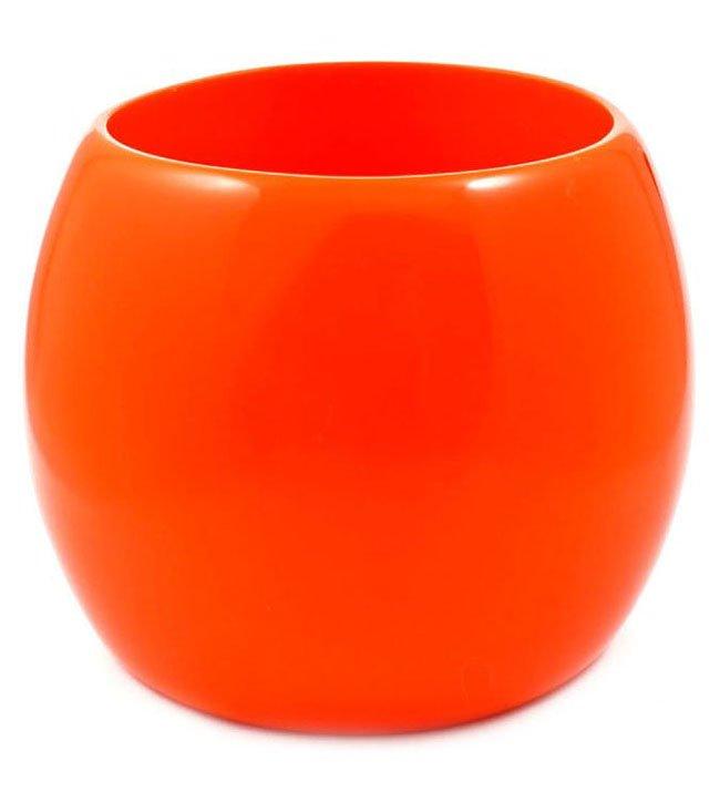 Oversized Chunky Orange Bracelet Neon Cuff Bangle Jewelry Statement Fashion Designer Runway