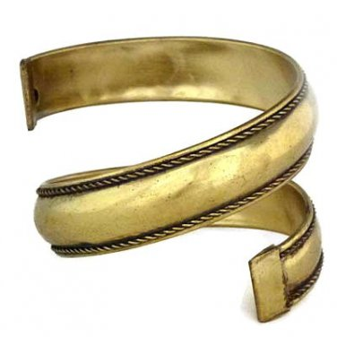 Spiral Bangle Tribal Bracelet Cuff Antique Gold Bollywood Ethnic Belly Dancer Arm Wrap Jewelry
