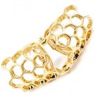 Hexagon Knuckle Ring Boho Indie Tribal Gold Abstract Artsy Armor Statement Stretch 6 7 8