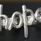 Hope Two Finger Ring Forever 21 Double Connector Silver Size 7 Size 8