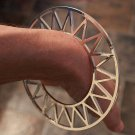 Celestial Geometric Abstract Bracelet Celestial Openwork Sun Design Cuff Silver Zig Zag Tribal Armor