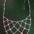Triangle Bars Geometric Necklace Matte Silver Abstract Bib Links Indie Boho Design Handmade Bohemian