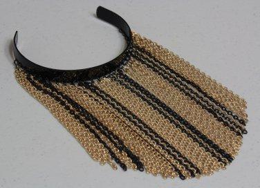 40e21b05f1c Bicep Fringe Chain Cuff Bracelet Upper Arm Gold Black Tel Tribal