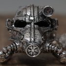 Face Mask Statement Helmet Necklace Steampunk Chain Armor Silver Men Women