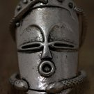 VooDoo Face Art Ring Mask Magic Gothic Wicca HooDoo Statement Tribal Silver Statement Jewelry
