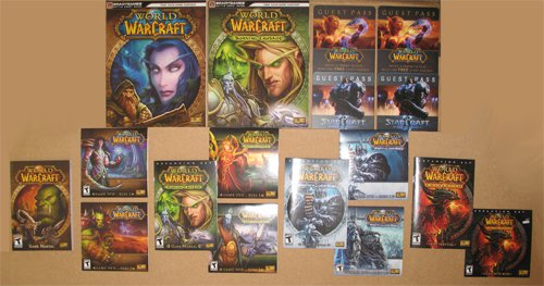 (USED) World of WarCraft + The Burning Crusade + The Wrath Of The Lich King + Catacylsm (USED)