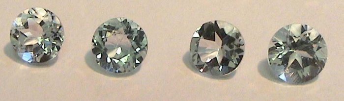 Matched Set of TWO 4.5 mm Faceted Aquamarine