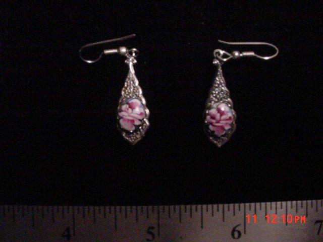 Ceramic Rose Earrings