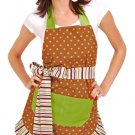 Flirty Aprons Women's Cocoa Lime Apron