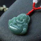 hand carved Natural Green Buddha  Jade  Pendant