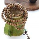 Tibetan Buddhism Natural Green Sandalwood meditation yoga 108 Prayer Beads Mala