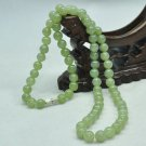 Natural green jadeite jade carved meditation yoga prayer beads beaded mala necklace