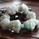 Laughing Buddha Head white jade charm bracelet