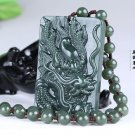 Good luck Hand- carved AAA Natural green Dragon jade charm chinese dragon Pendant