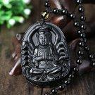 Patron saint of natural obsidian pendant Avalokitesvara